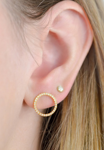 Ellipse White Earring (S)