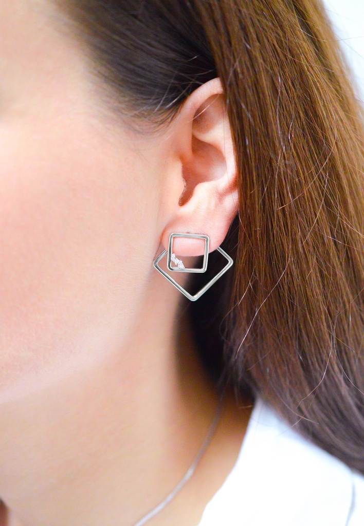Square Unity Earring