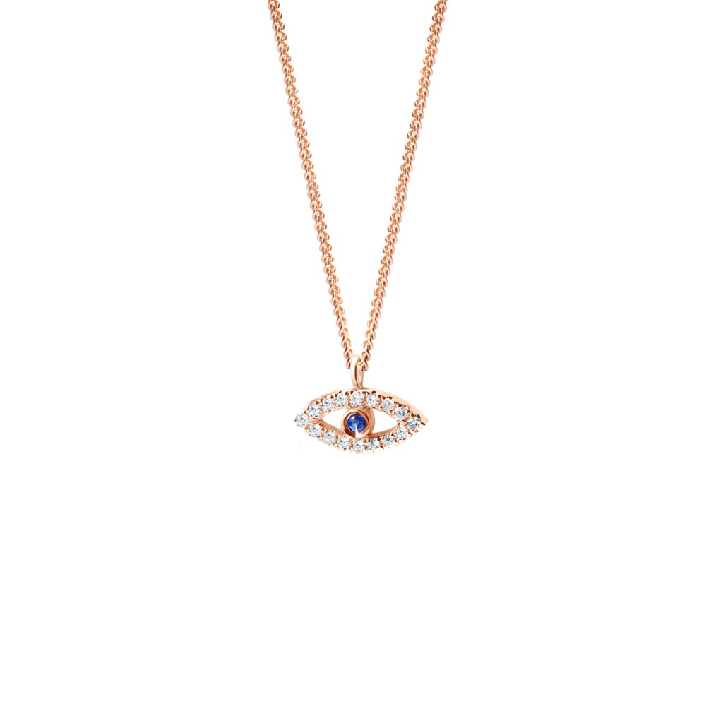 Evil Eye Diamonds & Gemstones Necklace