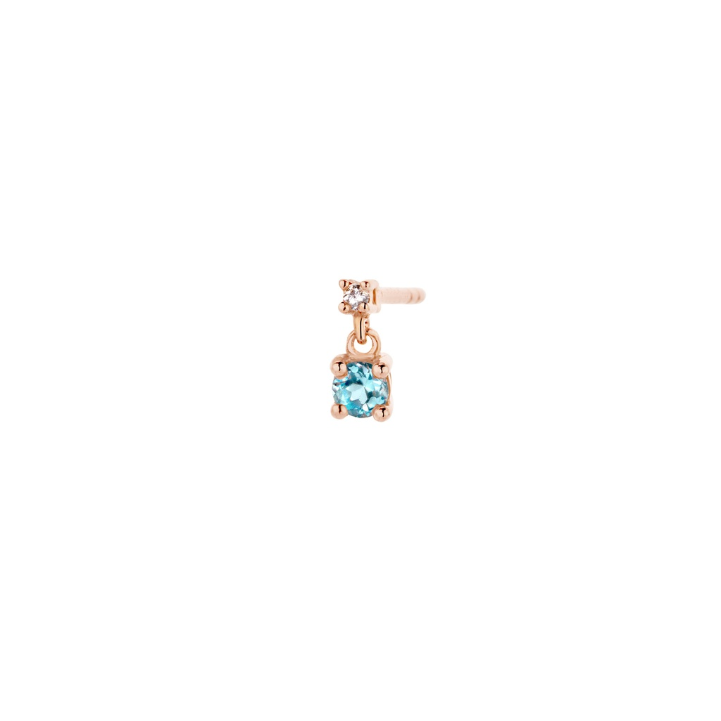 Diamond Blue Earring (single)