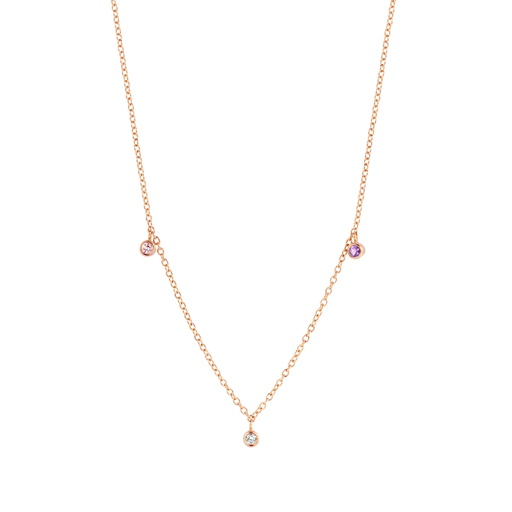 [M1674-2S3-S33] Petits Macarons Necklace (Pink)