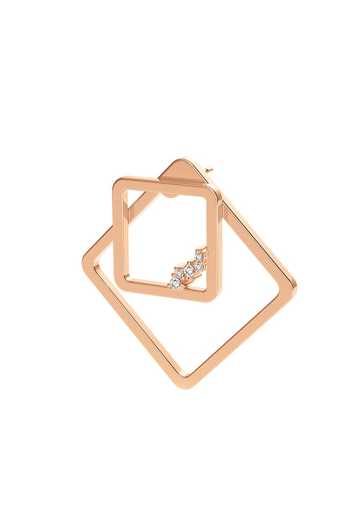 Square Unity (Single) Earring