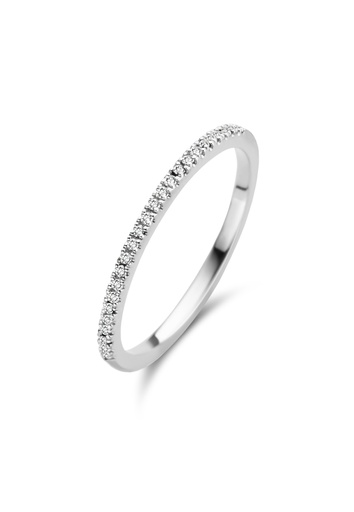 [M347] Diamond Moon Ring