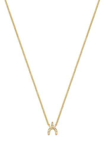 [M609] Wishbone Necklace White