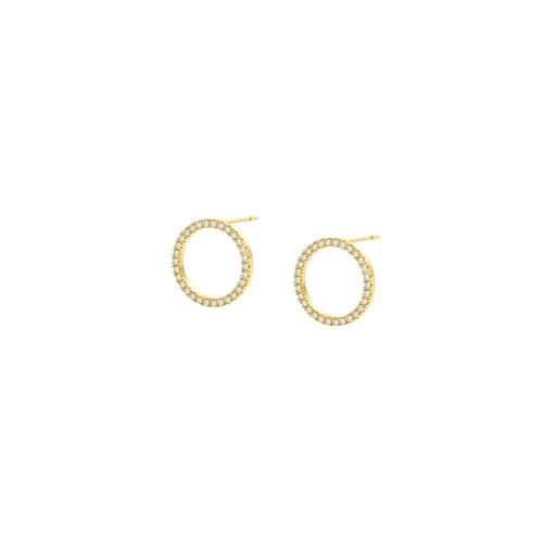 [M1084] Ellipse White Earring (S)