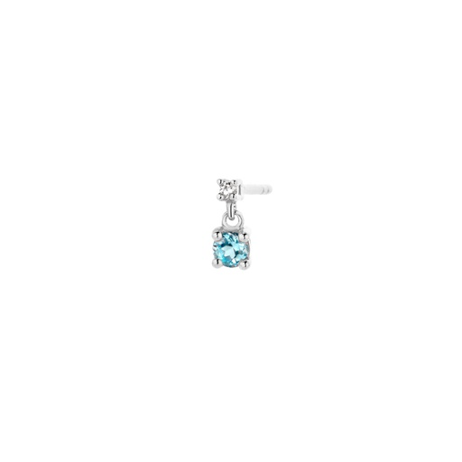 [M1285] Diamond Blue Earring (single)