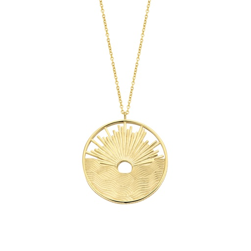 [M1362] Sunset Gold Necklace