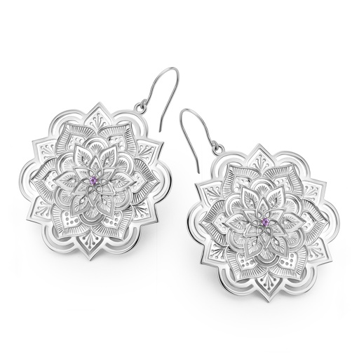 [M1394] Lotus Earrings