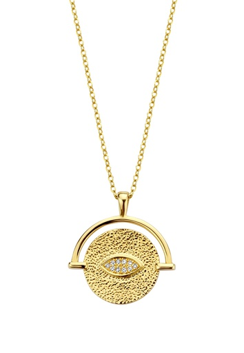 [M1842] Golden Eye Necklace