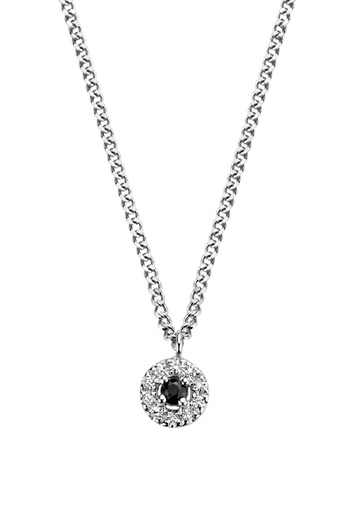 [M1849] Black Halo Necklace