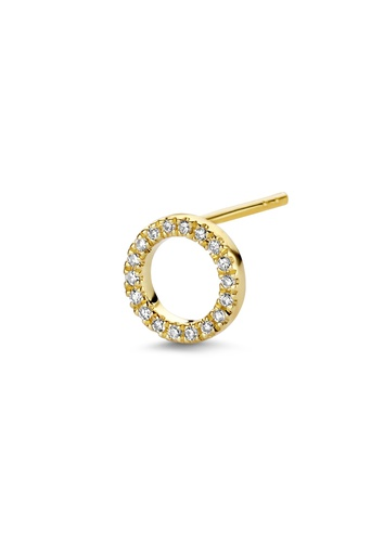 [M1851] Full Circle of Life (Single) Earring